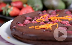How to prepare a Raspberry Orange Chocolate Mousse Cake